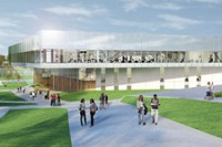 Cal Poly Pomona Student Recreation Center Construction, Pomona, CA, for C.W. Driver